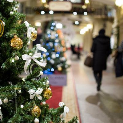 Compras navideñas centro de Alicante
